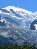 Mont Blanc, Chamonix ( France ). Mont Blanc peak seen from Chamonix Royalty Free Stock Photo