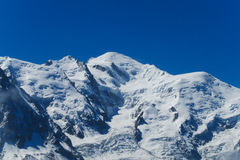 Mont Blanc, Chamonix-Mont-Blanc Fotografia Stock