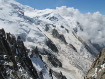 Mont Blanc. Climbing to the top of Mont Blanc Stock Photography