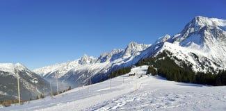 Mont Blanc Col de Vozza Immagine Stock