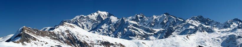 Mont Blanc, col rizada, Francia Foto de archivo