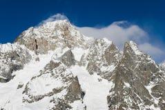 Mont blanc courmayeur 2. Mont blanc,  courmayeur aosta, italy Royalty Free Stock Photos