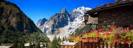 Mont Blanc, Courmayeur, Italien stockfotografie