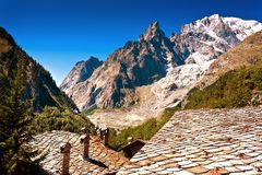 Mont Blanc, Courmayeur, Italien Lizenzfreie Stockfotos