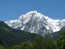 Mont Blanc of Courmayeur Italy Royalty Free Stock Photos