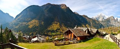 Mont Blanc, Courmayeur, Italy. Autumn Royalty Free Stock Images