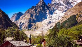 Mont Blanc, Courmayeur, Italy Stock Image