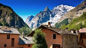 Mont Blanc, Courmayeur, Italy Stock Images