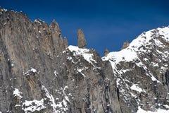 Mont Blanc CU The Finger Stock Photo