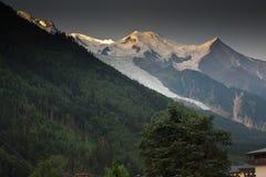 Mont Blanc dal lato francese Fotografie Stock Libere da Diritti