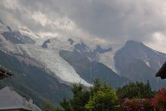 Mont Blanc dal lato francese Fotografia Stock Libera da Diritti