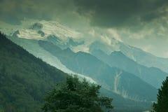 Mont Blanc de côté français Photographie stock libre de droits