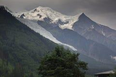 Mont Blanc de côté français Photos stock