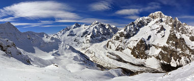 Mont Blanc de Courmayeur Stock Images