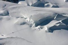 Mont Blanc de escalada Imagem de Stock Royalty Free