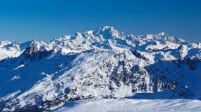 Mont Blanc - de meest hghest piek in Europa Stock Afbeeldingen