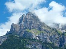 Mont Blanc-de zomermening van het massief. royalty-vrije stock foto