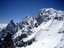 Mont Blanc, der höchste Berg von Europa Lizenzfreies Stockbild