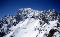 Mont Blanc, der höchste Berg von Europa Lizenzfreie Stockbilder