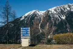 Mont Blanc-details Royalty-vrije Stock Foto's