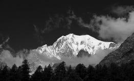Mont Blanc, doninha de Val, Italy Imagem de Stock