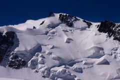 Mont Blanc du Tacul. High mountain scenery; Mont Blanc du Tacul Royalty Free Stock Photography