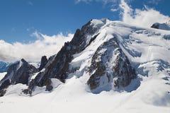 Mont Blanc du Tacul Fotos de Stock Royalty Free
