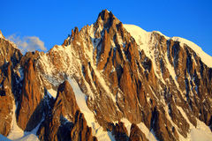 Mont Blanc du Tacul. Sunrise colours over Mont Blanc du Tacul (4248m), Haute Savoie,France Stock Photography
