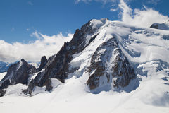 Mont Blanc du Tacul. (4248m) in the Mont Blanc massif of the French Alps Royalty Free Stock Photos