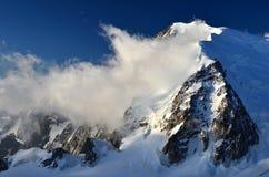 Mont Blanc du Tacul nos alpes, France Imagem de Stock Royalty Free