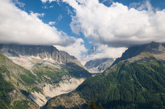 Mont Blanc, durch Lac Blanc Lizenzfreie Stockfotos