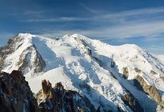 Mont Blanc em cumes franceses fotos de stock royalty free