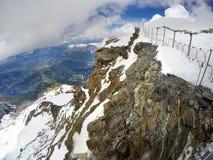 Mont Blanc en Chamonix stock fotografie