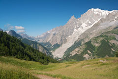 Mont Blanc from Ferret valley Stock Images