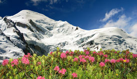Mont Blanc-France. View of the mountains Mont Blanc-France Royalty Free Stock Photo