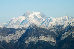 Mont Blanc in Francia Immagine Stock