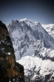 Mont-blanc in french Alps Royalty Free Stock Images