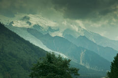 Mont Blanc on French side Royalty Free Stock Photography