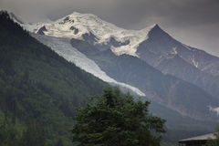Mont Blanc on French side Stock Photos