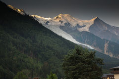 Mont Blanc on French side Royalty Free Stock Photos