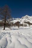 Mont Blanc gesehen von Val Frettchen Courmayeur, das Aostatal, Italien Lizenzfreie Stockfotos