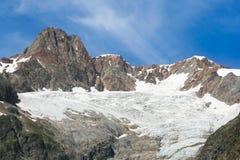 Mont Blanc glaciär Arkivfoton