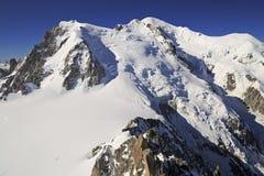 Mont Blanc ha osservato da Aiguille de Midi, Francia Immagini Stock Libere da Diritti
