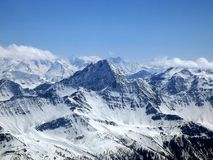 The Mont Blanc, the highest mountain of Europe Royalty Free Stock Image