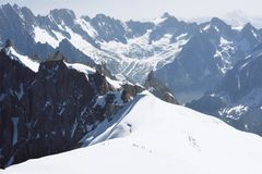 Mont blanc, the highest mountain of Europe. Royalty Free Stock Images
