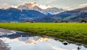 Mont Blanc III- Reflection Stock Photography