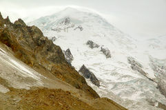Mont Blanc im Winter Lizenzfreies Stockfoto