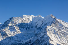 Mont Blanc. Image in winter of the highest European mountain peak, Mont Blanc Royalty Free Stock Image