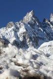 Mont Blanc in inverno Fotografia Stock Libera da Diritti