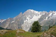 Mont Blanc, Italia Imagen de archivo libre de regalías